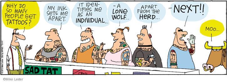 Cartoonist Mike Lester  Mike du Jour 2013-12-11 herd