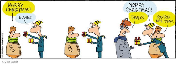 Cartoonist Mike Lester  Mike du Jour 2013-12-17 holiday