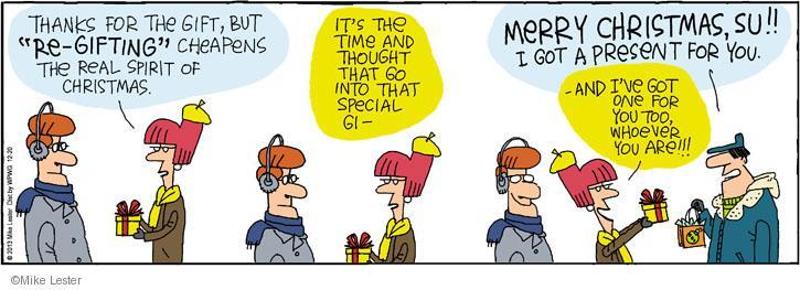 Cartoonist Mike Lester  Mike du Jour 2013-12-20 holiday