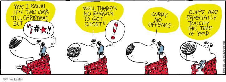 Cartoonist Mike Lester  Mike du Jour 2013-12-23 holiday season