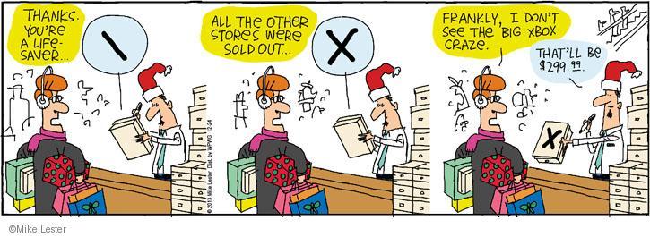 Cartoonist Mike Lester  Mike du Jour 2013-12-24 shopper