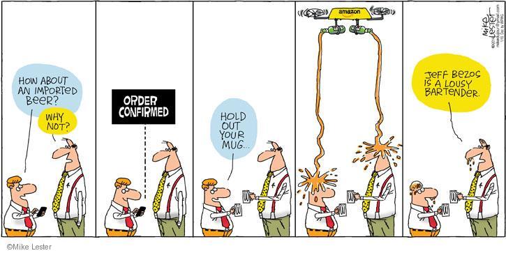 Cartoonist Mike Lester  Mike du Jour 2014-01-19 bartender