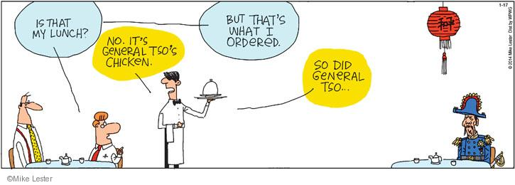 Comic Strip Mike Lester  Mike du Jour 2014-01-17 waiter