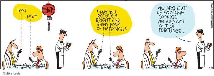 Comic Strip Mike Lester  Mike du Jour 2014-01-18 waiter