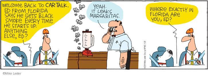 Cartoonist Mike Lester  Mike du Jour 2014-01-29 bartender