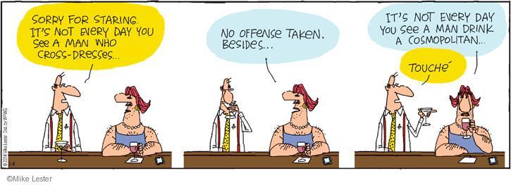Cartoonist Mike Lester  Mike du Jour 2014-02-04 cocktail