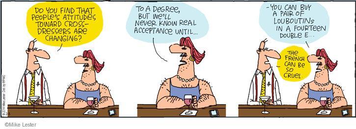 Comic Strip Mike Lester  Mike du Jour 2014-02-05 double cross
