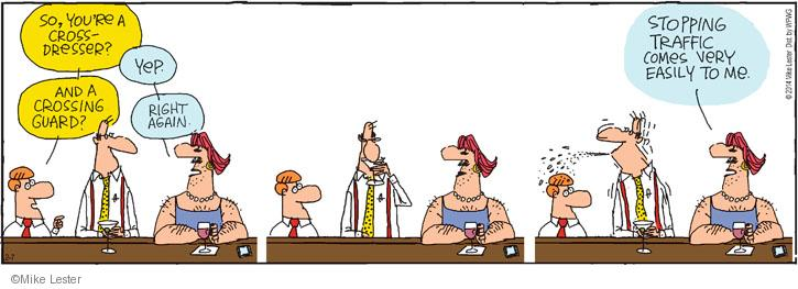 Cartoonist Mike Lester  Mike du Jour 2014-02-07 work clothes