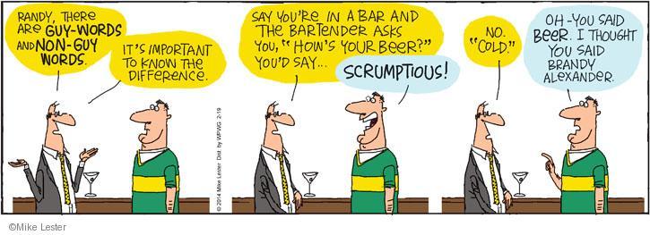 Cartoonist Mike Lester  Mike du Jour 2014-02-19 bartender