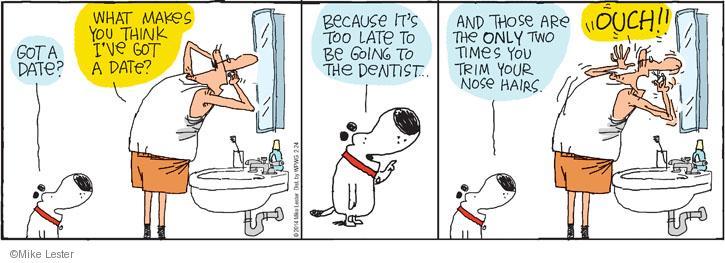 Comic Strip Mike Lester  Mike du Jour 2014-02-24 hygiene