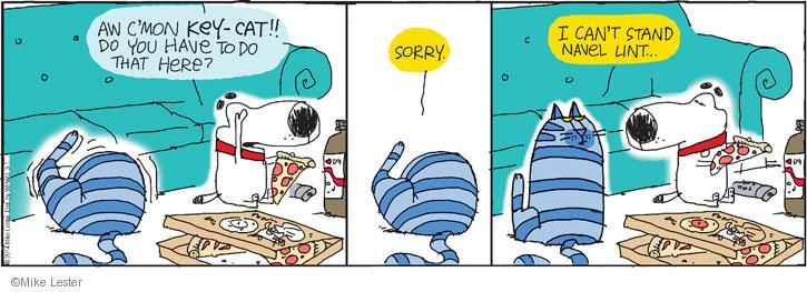 Comic Strip Mike Lester  Mike du Jour 2014-03-01 c'mon