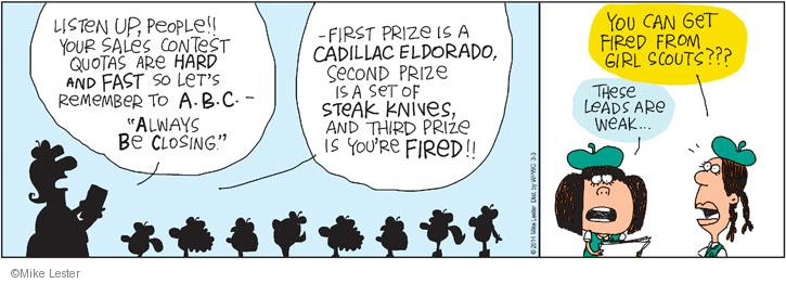 Comic Strip Mike Lester  Mike du Jour 2014-03-03 prose