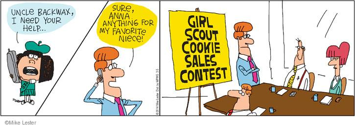 Cartoonist Mike Lester  Mike du Jour 2014-03-05 cookie