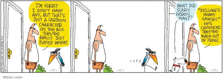 Cartoonist Mike Lester  Mike du Jour 2014-03-15 honey