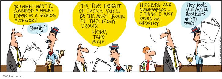 Comic Strip Mike Lester  Mike du Jour 2014-03-18 brother