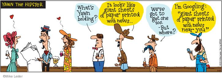 Comic Strip Mike Lester  Mike du Jour 2014-03-21 newspaper