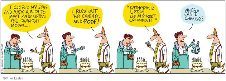 Cartoonist Mike Lester  Mike du Jour 2014-03-25 candle