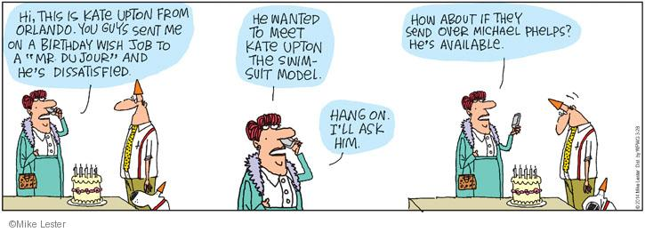 Comic Strip Mike Lester  Mike du Jour 2014-03-28 birthday