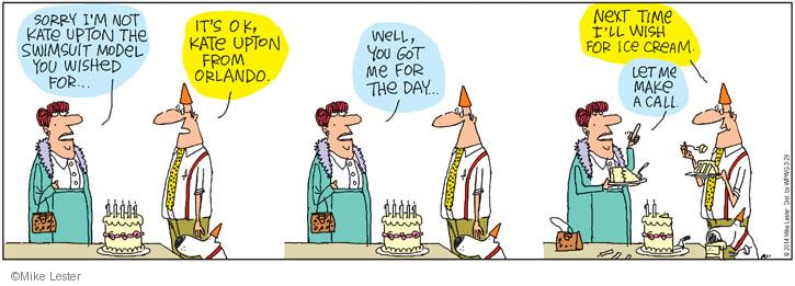 Comic Strip Mike Lester  Mike du Jour 2014-04-05 birthday