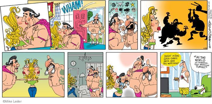 Comic Strip Mike Lester  Mike du Jour 2014-04-20 television cartoon