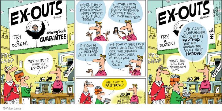 Comic Strip Mike Lester  Mike du Jour 2014-05-04 ex-wife