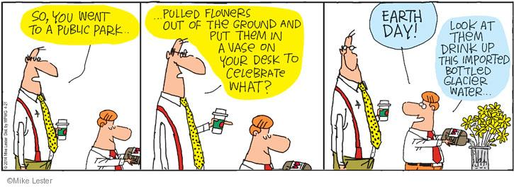 Cartoonist Mike Lester  Mike du Jour 2014-04-21 ground