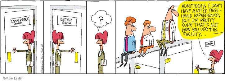 Comic Strip Mike Lester  Mike du Jour 2014-04-25 atop