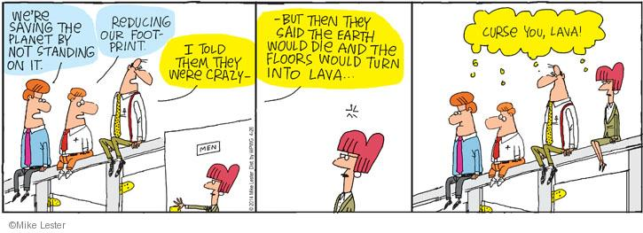 Comic Strip Mike Lester  Mike du Jour 2014-04-26 lava