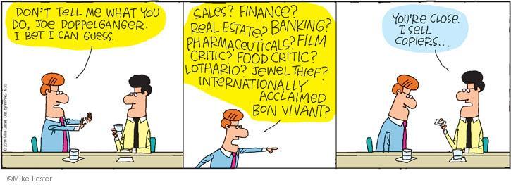Comic Strip Mike Lester  Mike du Jour 2014-04-30 food critic