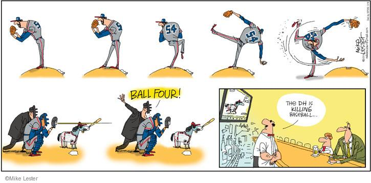 BALL FOUR! The DH is killing baseball …