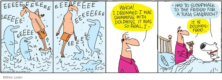 Comic Strip Mike Lester  Mike du Jour 2014-05-12 swim with dolphins