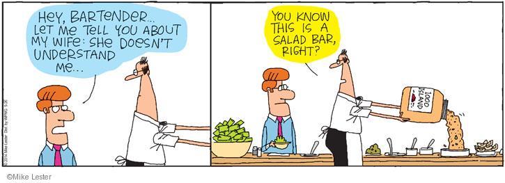 Cartoonist Mike Lester  Mike du Jour 2014-05-26 bartender