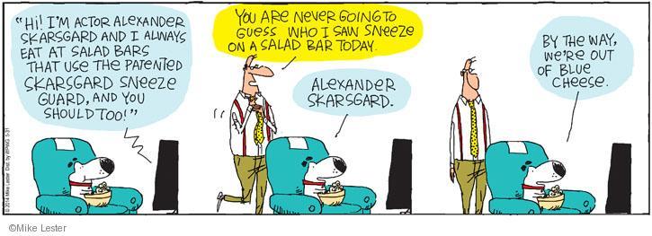 Cartoonist Mike Lester  Mike du Jour 2014-05-31 salad dressing