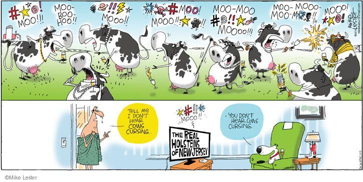 Comic Strip Mike Lester  Mike du Jour 2014-06-15 television cartoon