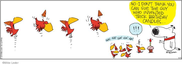Comic Strip Mike Lester  Mike du Jour 2014-06-19 birthday