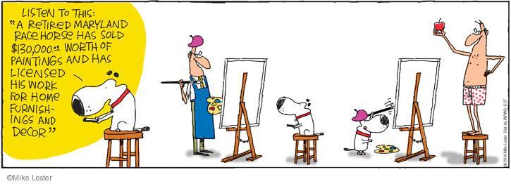 Comic Strip Mike Lester  Mike du Jour 2014-06-27 dog racing