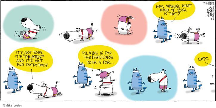 Comic Strip Mike Lester  Mike du Jour 2014-07-13 pilates