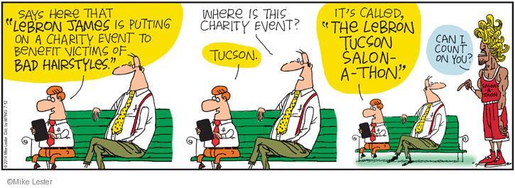 Cartoonist Mike Lester  Mike du Jour 2014-07-12 fundraiser