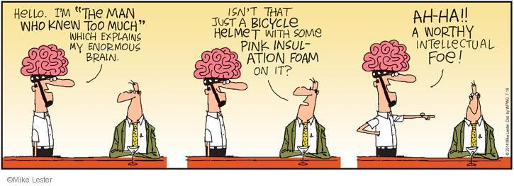Comic Strip Mike Lester  Mike du Jour 2014-07-14 foam
