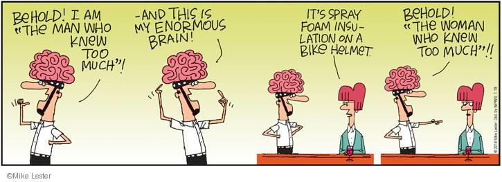 Cartoonist Mike Lester  Mike du Jour 2014-07-19 intelligence