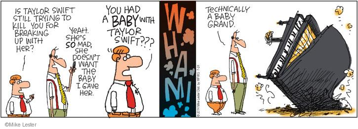 Comic Strip Mike Lester  Mike du Jour 2014-07-24 girlfriend