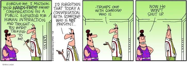 Cartoonist Mike Lester  Mike du Jour 2014-07-29 behavior