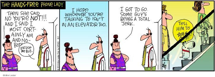 Cartoonist Mike Lester  Mike du Jour 2014-08-02 isn't