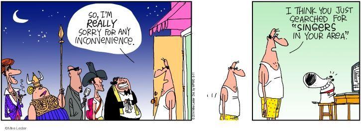Cartoonist Mike Lester  Mike du Jour 2014-08-11 inconvenience