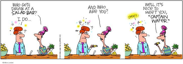 Cartoonist Mike Lester  Mike du Jour 2014-08-23 salad