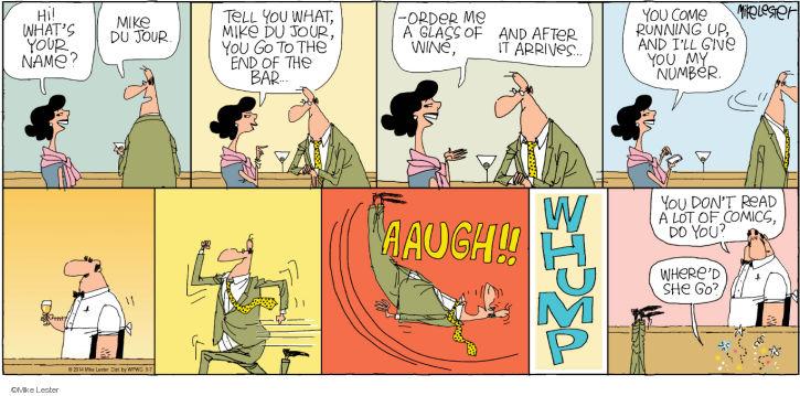Cartoonist Mike Lester  Mike du Jour 2014-09-07 humor