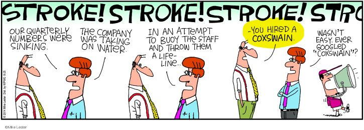 Comic Strip Mike Lester  Mike du Jour 2014-08-25 sinking boat