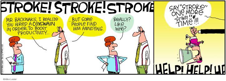 Comic Strip Mike Lester  Mike du Jour 2014-08-26 boat
