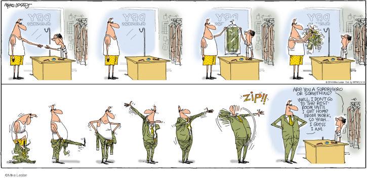 Cartoonist Mike Lester  Mike du Jour 2014-09-14 work at home