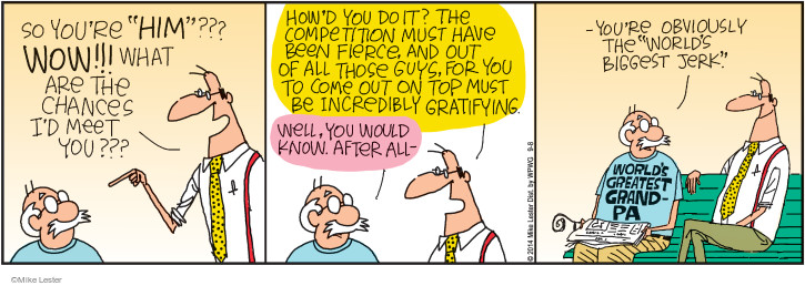 Comic Strip Mike Lester  Mike du Jour 2014-09-08 grandfather